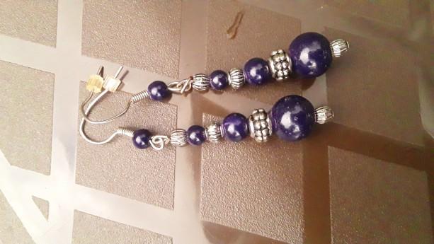 Earrings Navy Blue