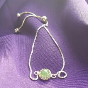 Aventurine sterling silver bracelet