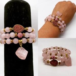 Rose Quartz Bracelet set