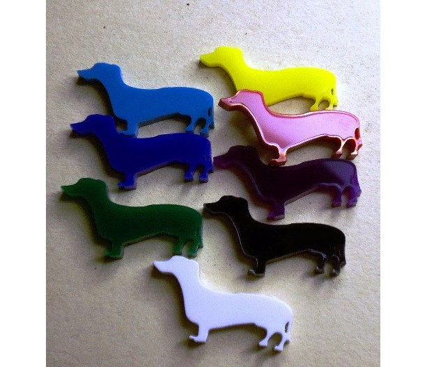dachshund charms, dog charms, dachshunds charms, laser cut charms,