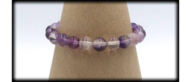 Fluorite Solid Gemstone Bracelet for Determination and Structure