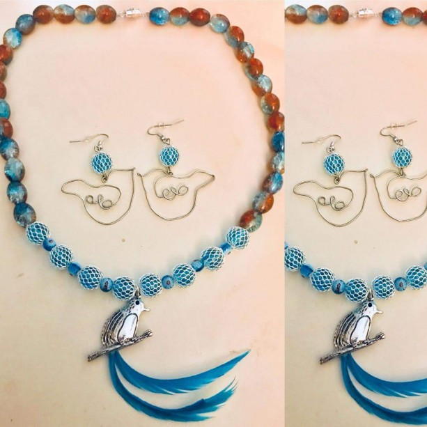 The Lovebird Necklace & Earrings
