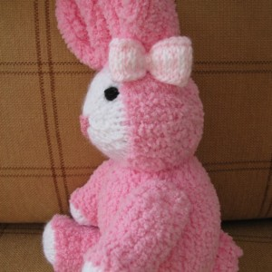 Bunny - knitted - Pink - So soft