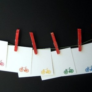 Gocco Printed Bicycle Notecards (6 pack)