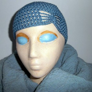 Crochet Blue Butterfly Hat Cloche