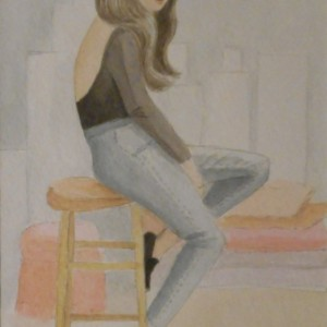 Blue Jean Lady - Original Watercolor