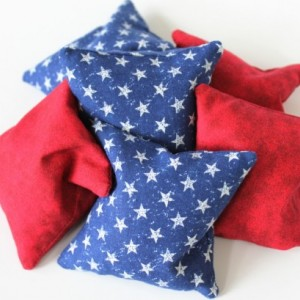 Red, White, & Blue Bean Bags (set of 6) Americana Patriotic Educational Toys Sensory Perception Counting Games (Includes US Shipping)