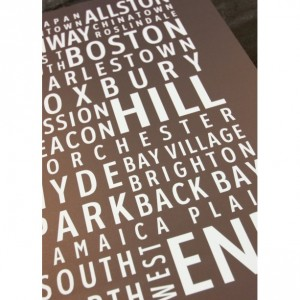Boston Neighborhoods - Typography Poster Print