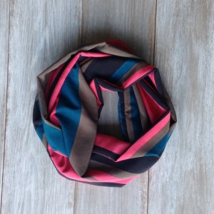 Bold Striped Silky Infinity Scarf