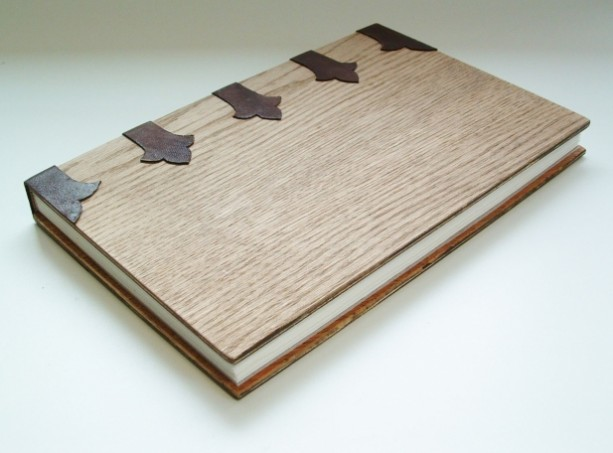 Handmade Book Bound In Leather And Wood Aftcra