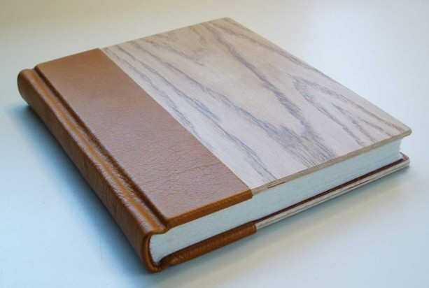 Hand made Book Bound In Leather And Wood Aftcra