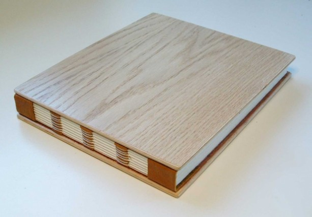 Handmade book bound in wood and leather aftcra handmade book bound in wood and leather solutioingenieria Choice Image