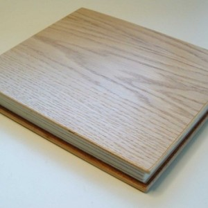 Handmade book, bound in wood and leather