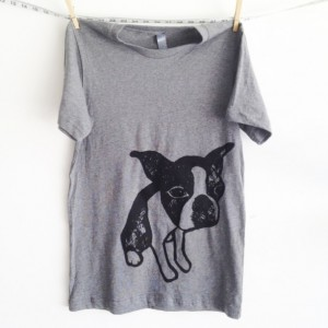 Boston Terrier T-shirt Grey