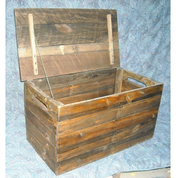 ... Primitive Wood Box, Storage Chest, Trunk, Wooden Box ...
