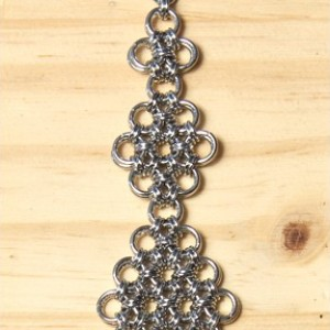"""The Wide Mini """"Extended Flower"""" Chainmaille Bracelet"""