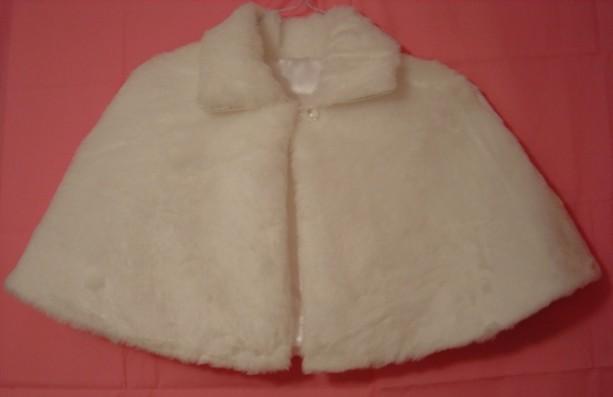 White Faux Fur Bridal Capelet