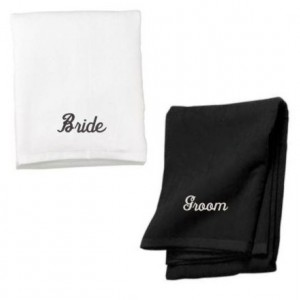 Set of Two Beach Towels, His Hers Towels, Wedding Gift Ideas