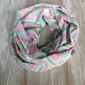 Bright Aztec Print Silky Infinity Scarf