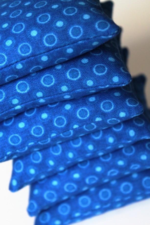 Royal Blue Bean Bags Set Of 6 Educational Toys Sensory