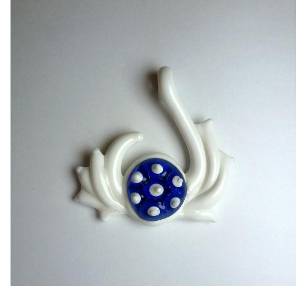 Handmade Blue Spiny Shell Pendy