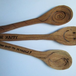 Handmade Oak Rice Paddle / Stirring Spoon