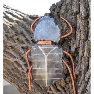 Metal Steampunk Scarab Beetle Sculpture