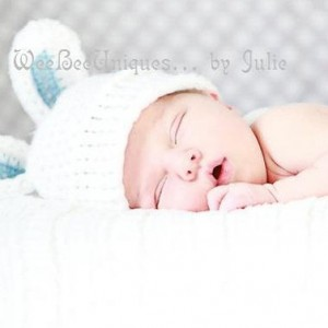 baby boy bunny hat newborn photography prop