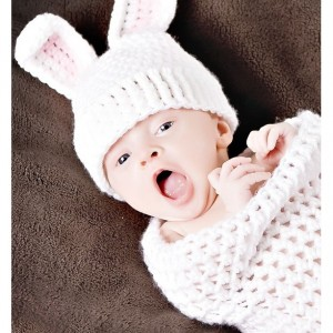 baby girl bunny hat newborn photography prop