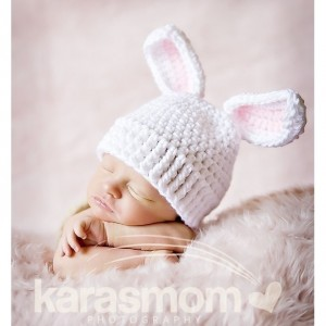 baby girl bunny hat newborn photography prop
