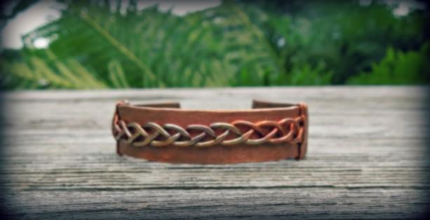 """""""Celtic Cuff"""" copper cuff bracelet"""