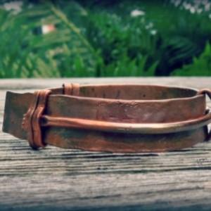 """""""The Saturn"""" copper cuff bracelet"""