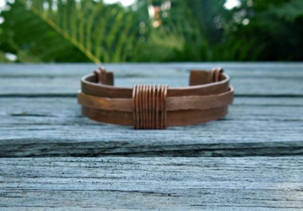 """""""The Saturn"""" (hammered) copper cuff bracelet"""