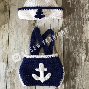 Nautical Sailor photo prop outfit