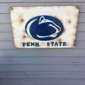 Wood Penn State Sign