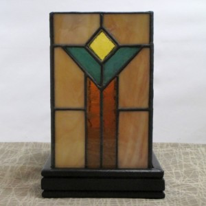 Craftsman Style Stained Glass Lamp