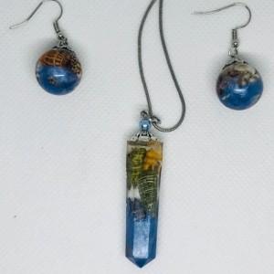 Beach jewelry, seashell jewelry set
