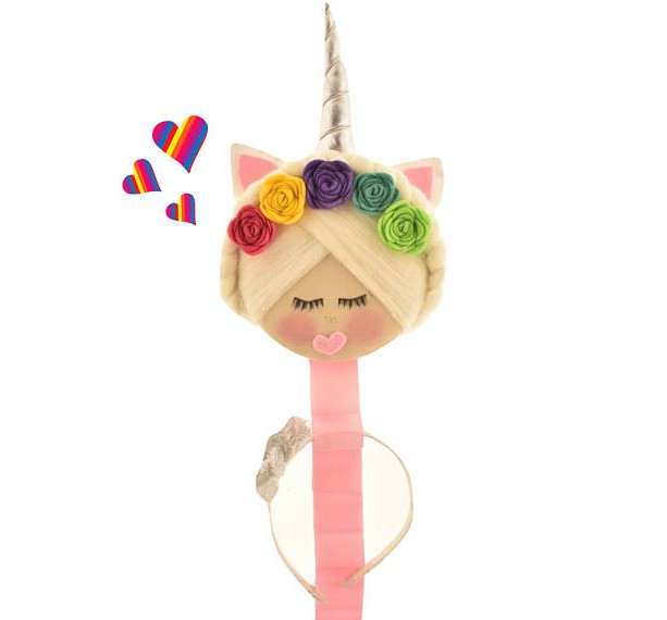 Headband Holder, Unicorn, Hair Accessory Organizer, Unicorn Headband, Hair Bows, Cheer Bows, Headband Organizer, Girl Gift,Pastel Room Decor