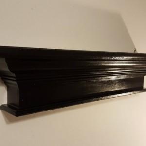 Crown molding shelf in black