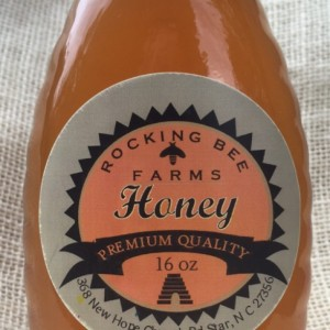 One Pound (16 oz) of Delicious Fresh Honey in Glass Jar with Metal Lid