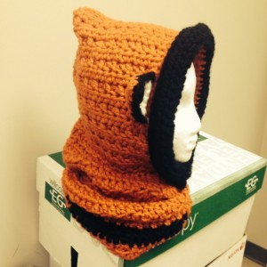 Crochet Fox Hooded scarf