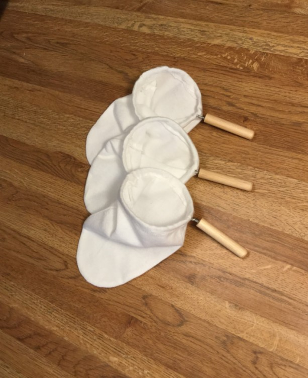 Bolsita 3-pack (chorreador coffee filters) AKA coladors, bags, sacks, socks – for Costa Rican style pour over drip coffee makers