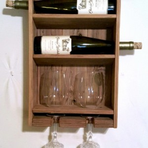 Rustic Handcrafted Wine Rack