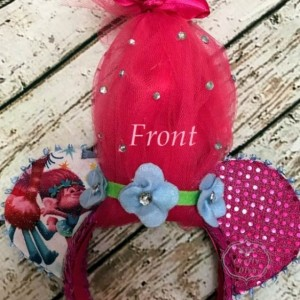 Trolls Princess Poppy Minnie/Mickey Mouse Handmade Headband