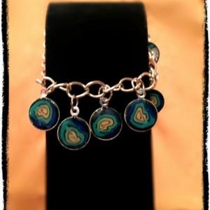Aqua Blue Charm Bracelet
