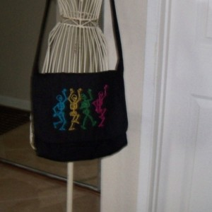 Dancing Skeleton Messenger Bag