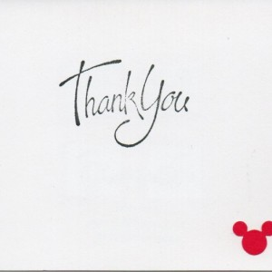 Disney cards - set of 4 (2 birthday, 2 thank you)