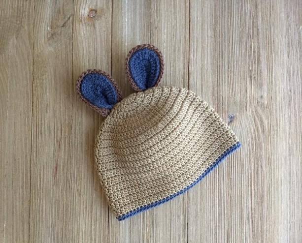 Crochet Ears beanie. Crochet photo props. Crochet baby. Babygirl. Crochet hat. Crochet cap. Handmade. Cotton. Ears. Pink. Baby. Babies