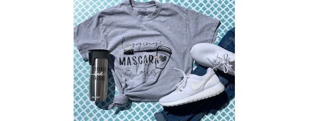 Leggings, Mascara, Latte Shirt