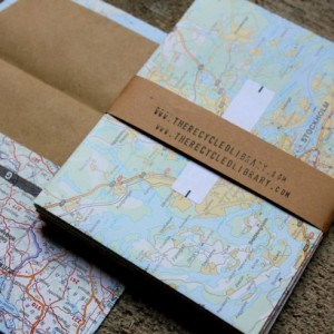 Europe Maps Envelope & Notecard Set - Set of 10 - Recycled Maps